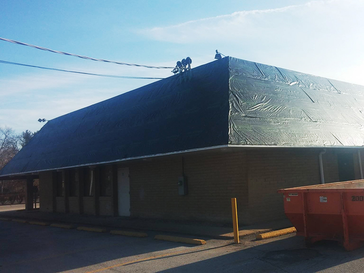 Commercial Roofing Before